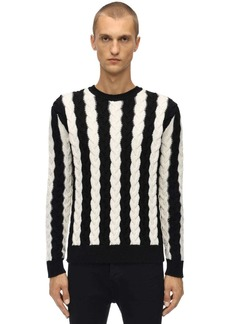 Yves Saint Laurent Cable Knit Wool Sweater
