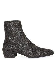 Yves Saint Laurent Caleb Glitter Ankle Boots