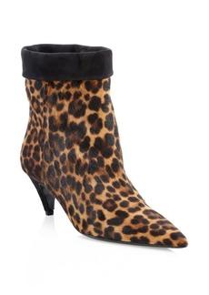 Charlotte Leopard Calf Hair Booties