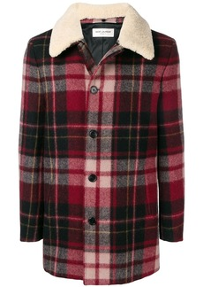 Yves Saint Laurent checked buttoned jacket