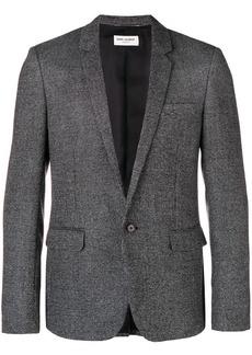 Yves Saint Laurent checkered effect blazer