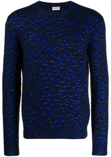 Yves Saint Laurent chevron pattern knitted jumper
