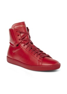Yves Saint Laurent Classic Leather High-Top Sneakers