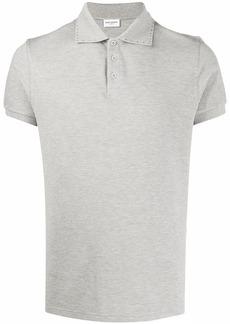 Yves Saint Laurent stud-detail short-sleeved polo shirt