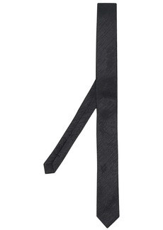 Yves Saint Laurent diagonal stripes tie