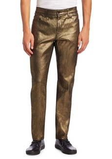 Yves Saint Laurent Coated Skinny-Fit Jeans