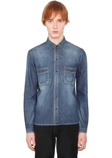 Yves Saint Laurent Cotton Denim Shirt W/pockets