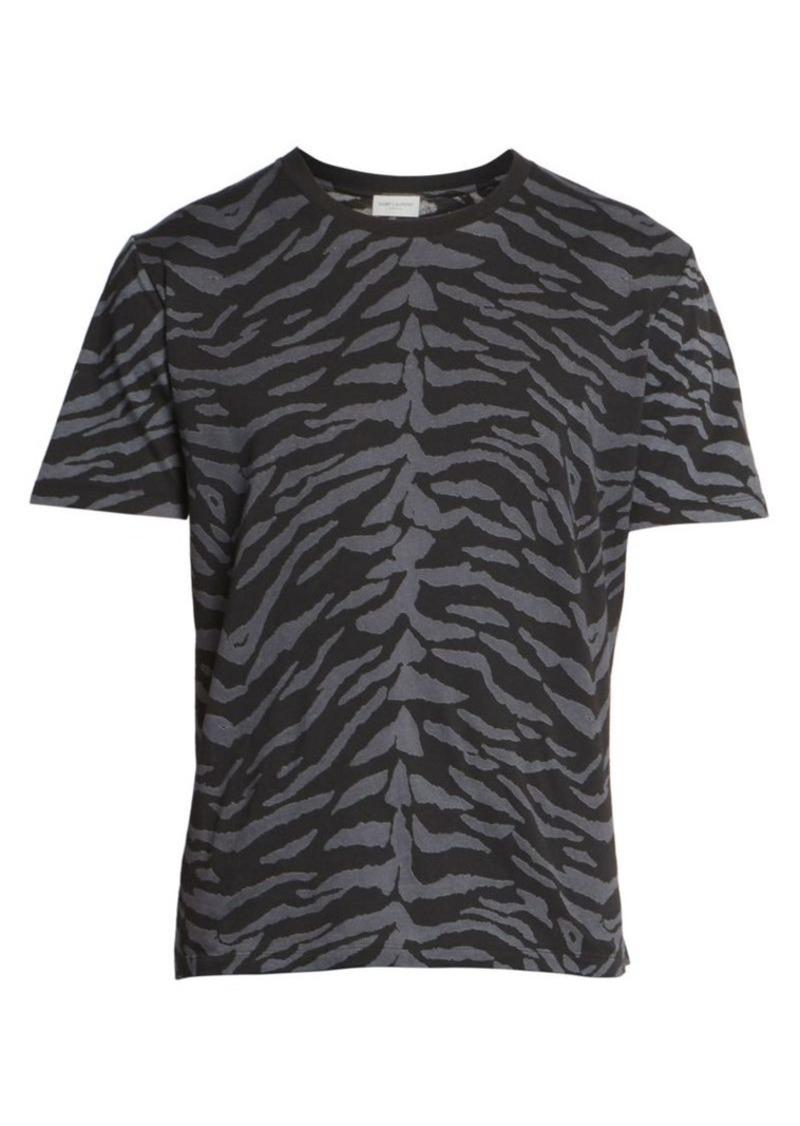 Yves Saint Laurent Cotton Print T-Shirt