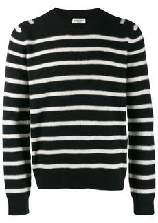 Yves Saint Laurent crew neck striped sweater