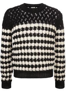Yves Saint Laurent crochet monochrome jumper