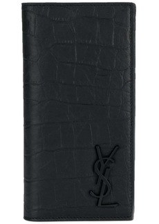 Yves Saint Laurent crocodile embossed card holder
