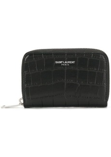 Yves Saint Laurent crocodile embossed wallet