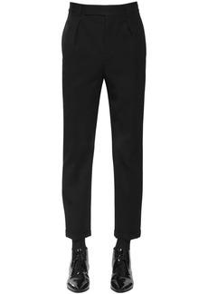 Yves Saint Laurent Cropped Wool Gabardine Trousers