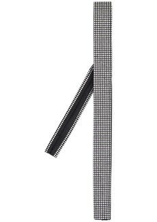 Yves Saint Laurent crystal-embellished silk square-tip tie