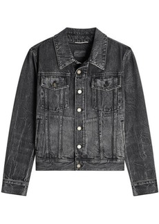 Yves Saint Laurent Denim Jacket with Embroidered Reverse
