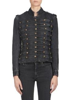 Yves Saint Laurent Denim Officer Jacket