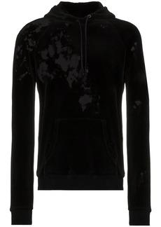 Yves Saint Laurent Destroyed velvet hoodie