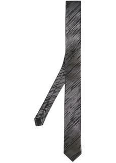 Yves Saint Laurent diagonal stripe tie