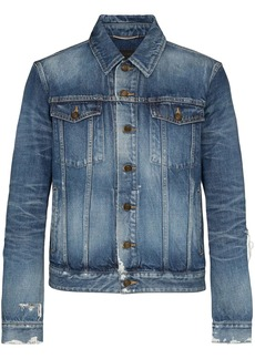 Yves Saint Laurent distressed-effect denim jacket