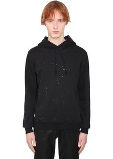 Yves Saint Laurent Embellished Cotton Sweatshirt Hoodie