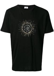 Yves Saint Laurent embellished logo print T-shirt