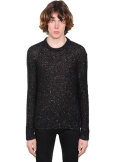 Yves Saint Laurent Embellished Mohair Blend Sweater