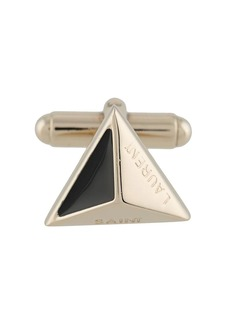 Yves Saint Laurent engraved pyramid cufflink
