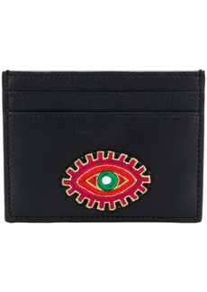 Yves Saint Laurent Eye embroidered card case