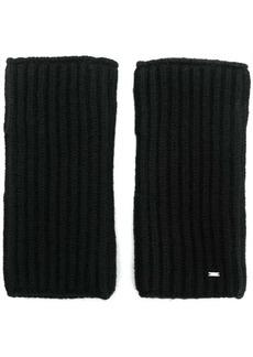 Yves Saint Laurent fingerless knitted gloves
