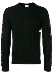 Yves Saint Laurent floral intarsia knit jumper