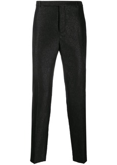 Yves Saint Laurent floral print cropped trousers