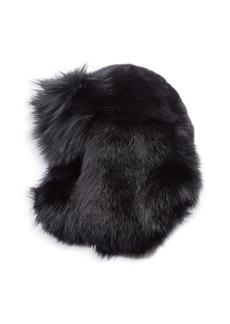 Yves Saint Laurent Fox Fur Chapka Hat