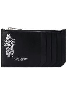 Yves Saint Laurent fragment zipped card case
