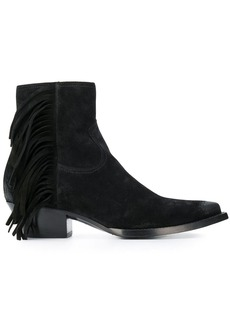 Yves Saint Laurent Lukas fringed ankle boots