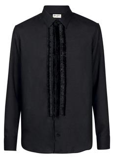 Yves Saint Laurent Fringed Sheer Wool Shirt