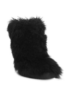 Saint Laurent Furry Shearling Snow Boot