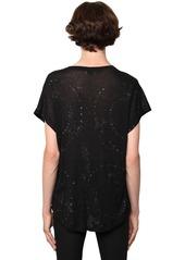 Yves Saint Laurent Galaxy Glittered Sheer Cotton T-shirt