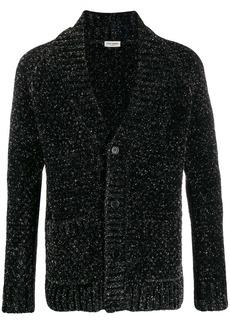Yves Saint Laurent glitter effect V-neck cardigan