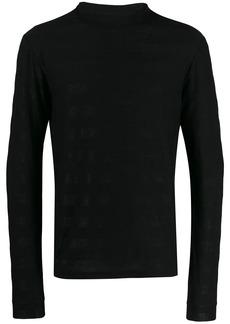 Yves Saint Laurent glittered turtle-neck sweater