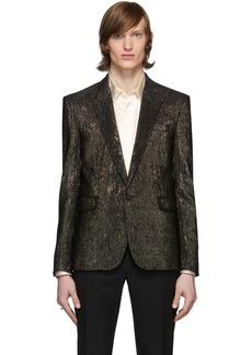 Yves Saint Laurent Gold & Black Viscose Blazer