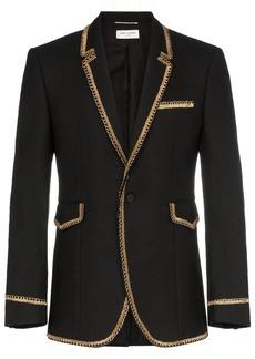 Yves Saint Laurent Gold braided blazer