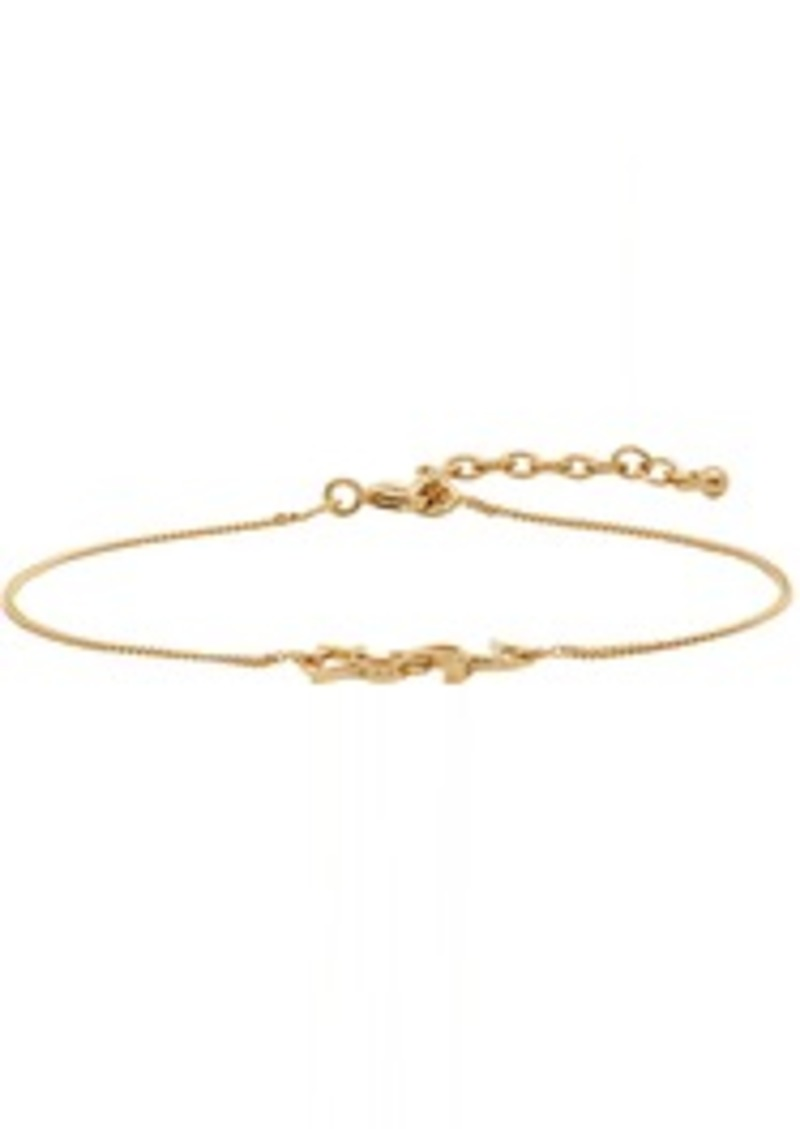 Yves Saint Laurent Gold Monogram Bracelet