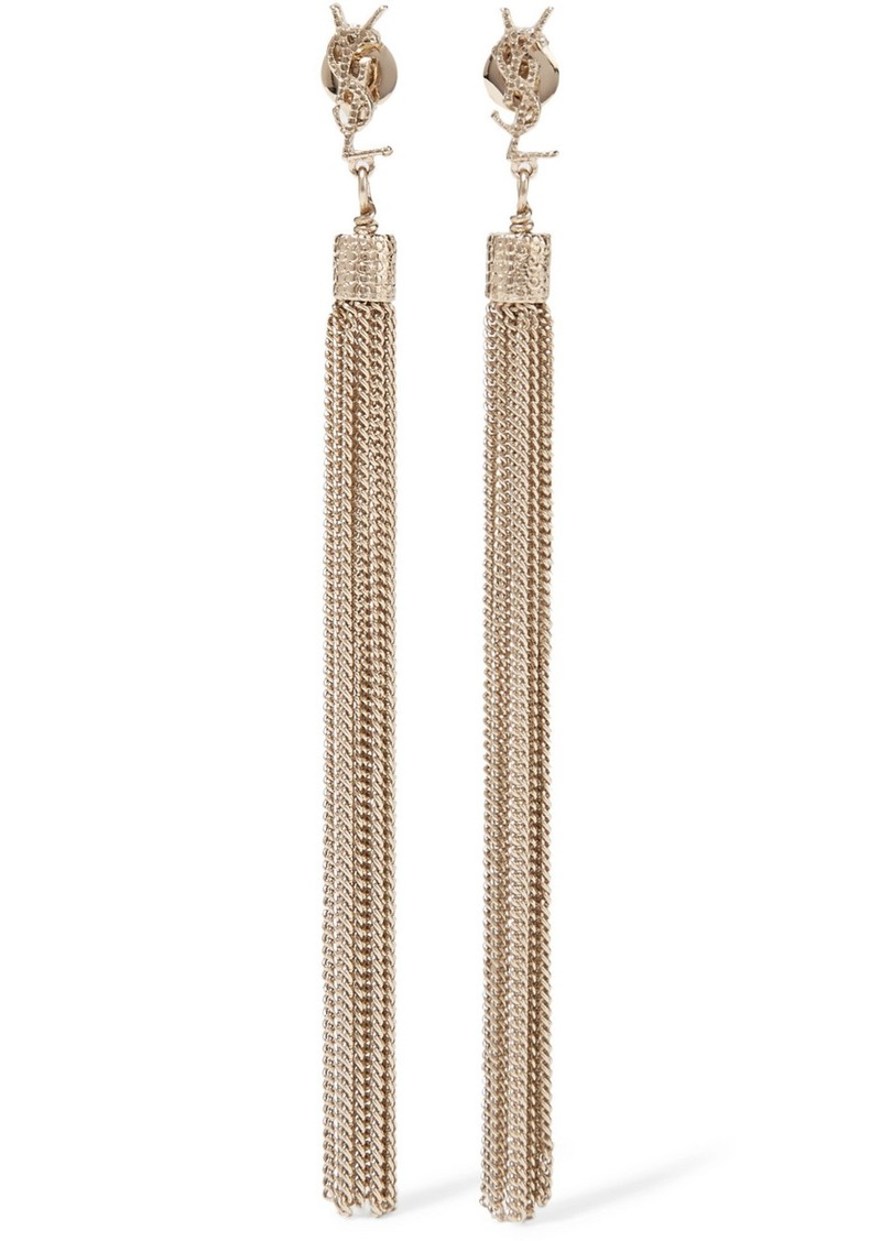86b4b54537 Gold-plated Tassel Earrings