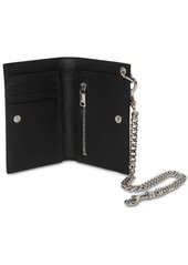 Yves Saint Laurent Grained Leather Chain Wallet