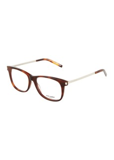 Yves Saint Laurent Havana Square Acetate/Metal Optical Glasses