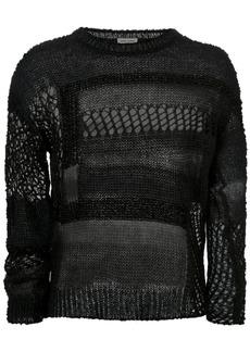 Yves Saint Laurent holey knit jumper