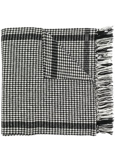 Yves Saint Laurent houndstooth print scarf