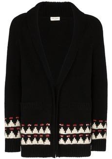 Yves Saint Laurent intarsia knit cardigan