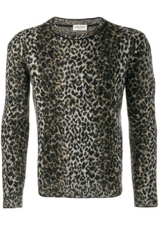 Yves Saint Laurent intarsia leopard knitted sweater