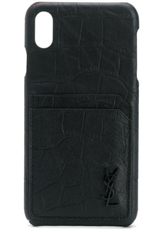 Yves Saint Laurent crocodile-embossed iPhone XS Max case